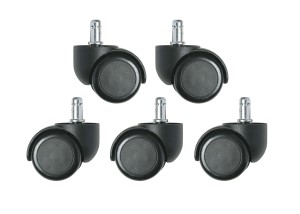 Dual Wheel Hard Floor Casters - 6000 series only (set of 5)